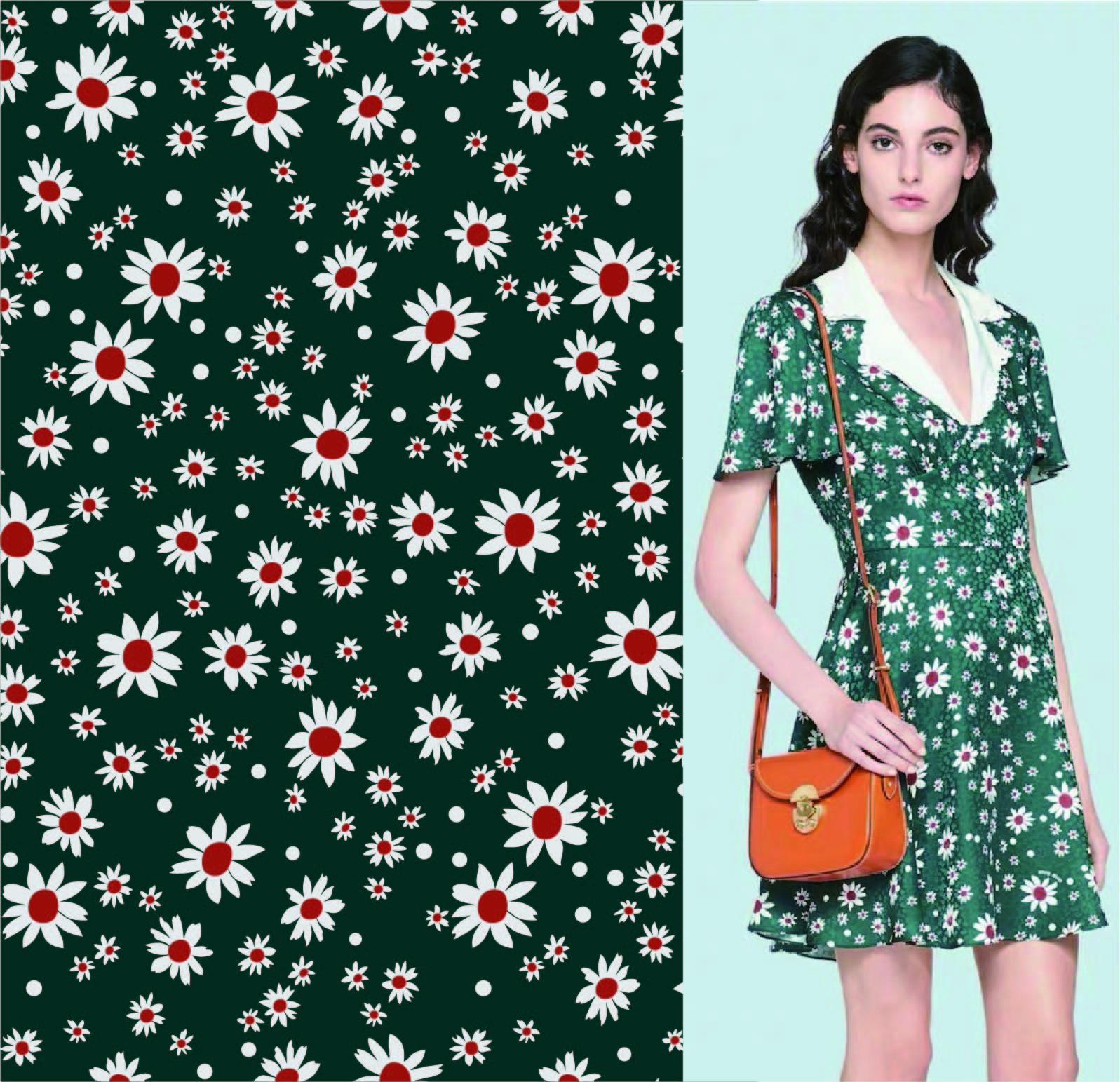 几何植物花朵矢量图服装纺织面料数码印花花型素材-POP花型网