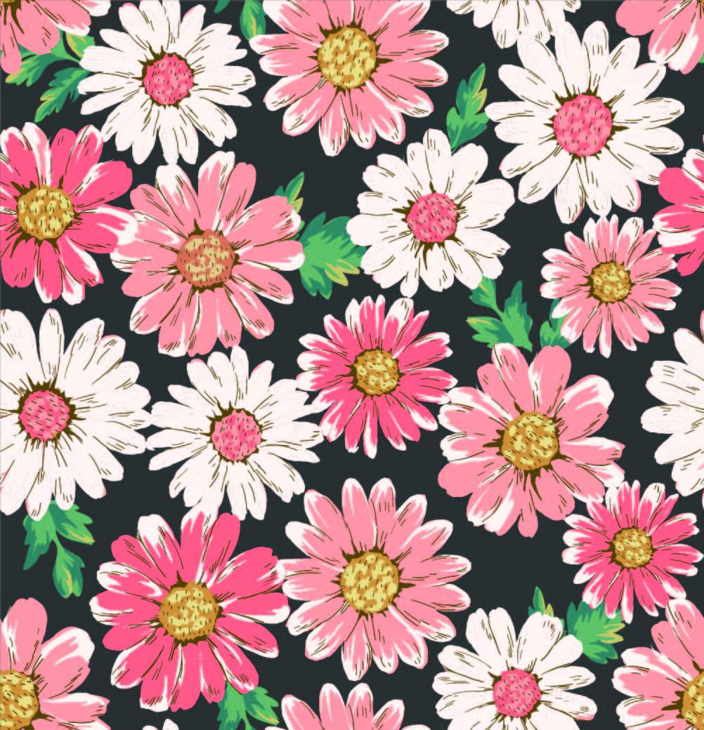 多彩植物菊花花朵印花矢量图服装纺织面料数码印花花型素材-POP花型网
