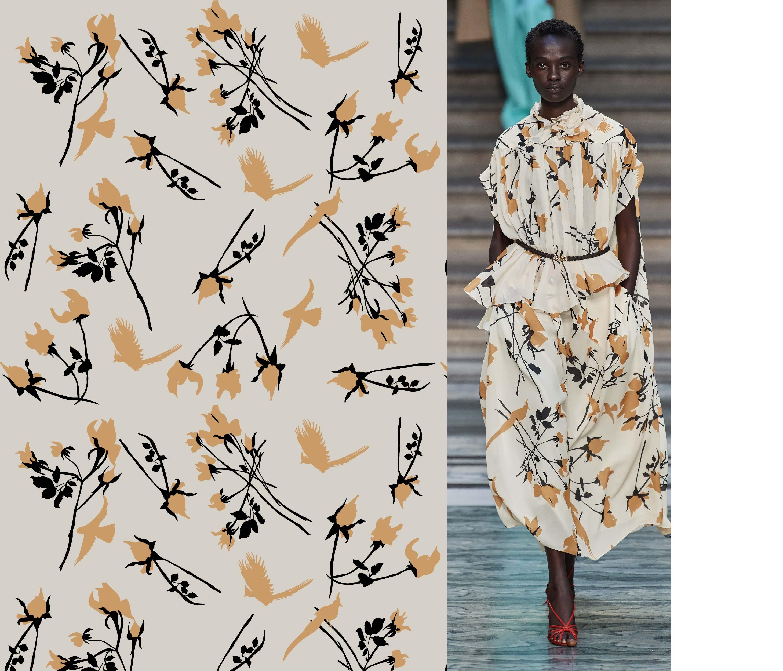 几何植物花卉鸟类印花矢量图服装纺织面料数码印花花型素材-POP花型网
