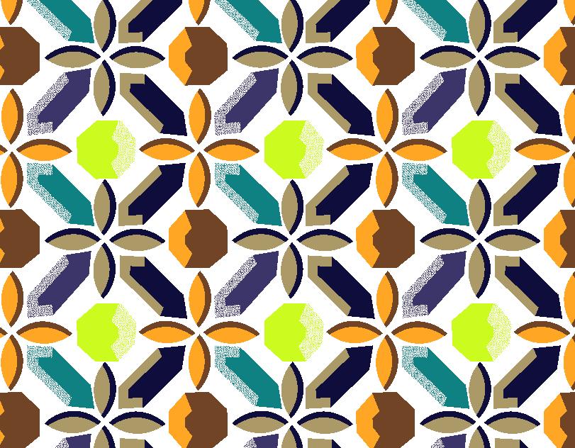 几何花纹拼接印花矢量图服装纺织面料水印数码印花金昌花型素材-POP花型网