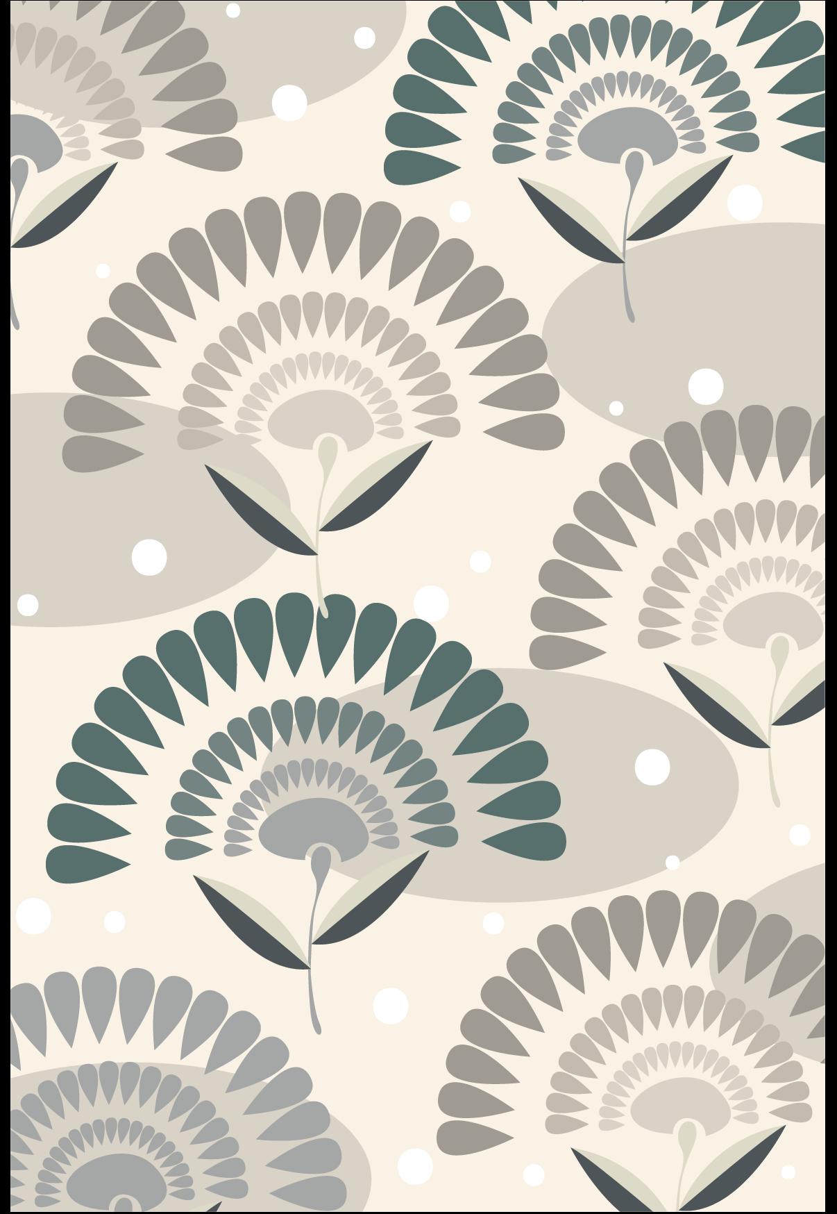 几何扇形印花矢量图服装纺织面料数码印花花型素材-POP花型网