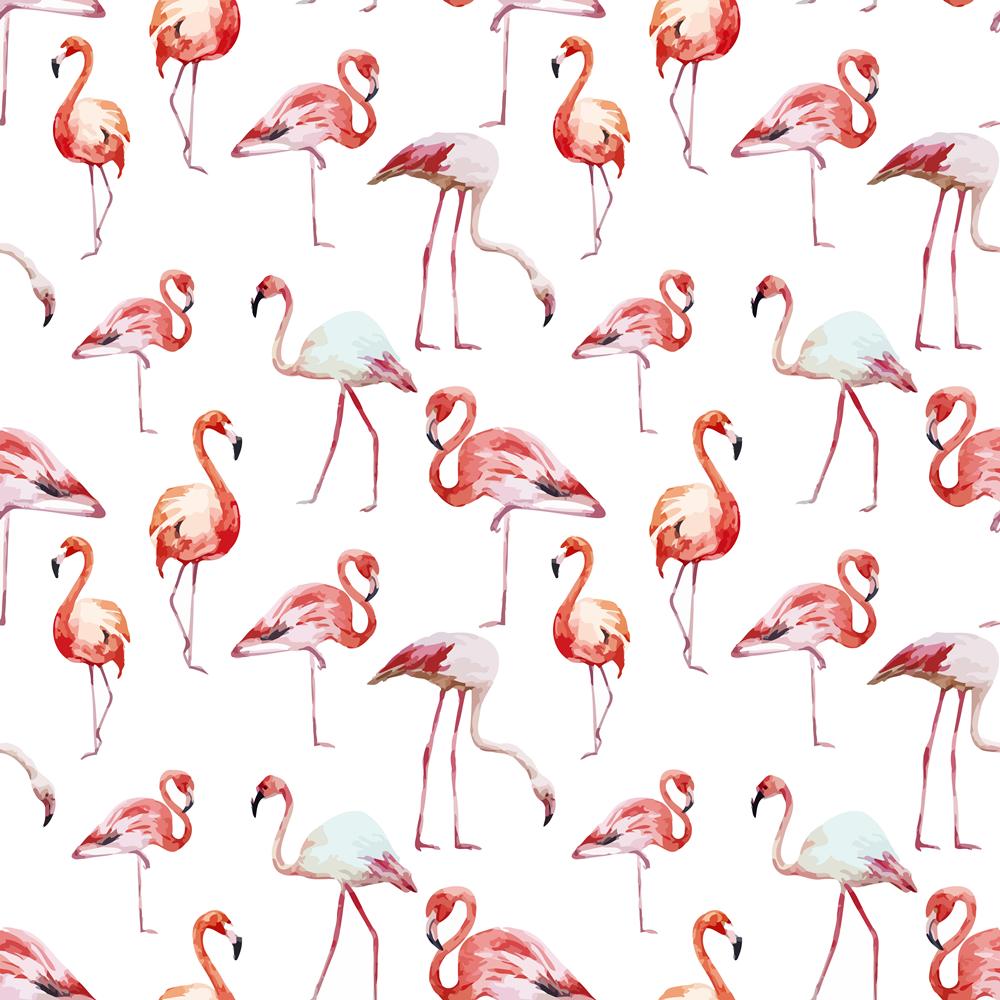 动物火烈鸟拼接印花矢量图服装纺织面料数码印花花型素材-POP花型网