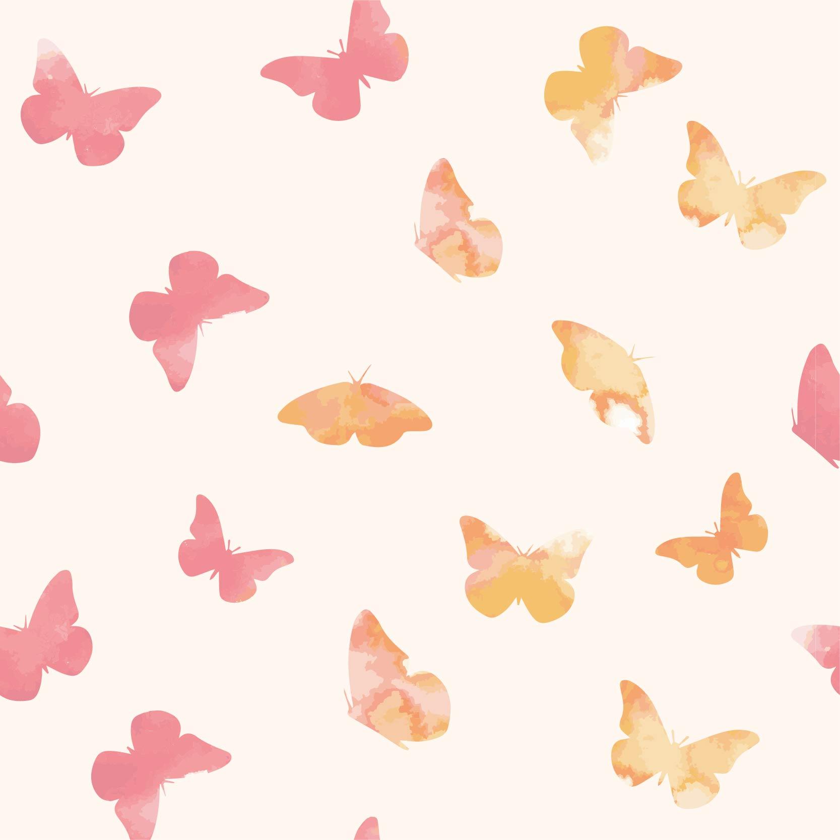 昆虫蝴蝶印花矢量图服装纺织面料数码印花花型素材-POP花型网