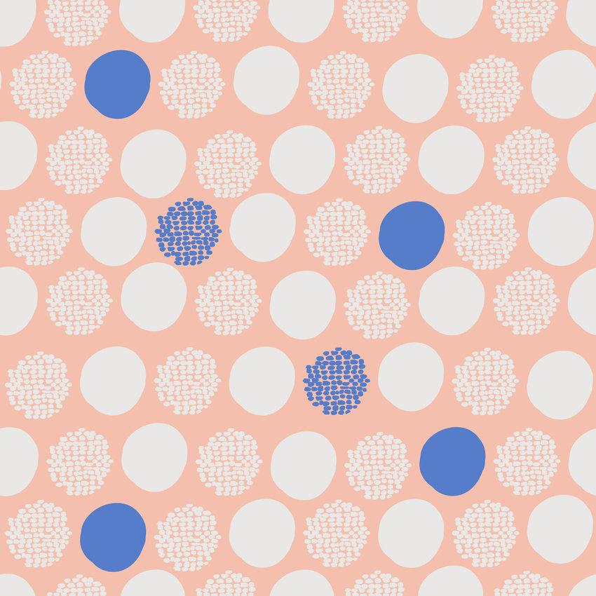 多彩几何圆形拼接印花矢量图服装纺织面料数码印花花型素材-POP花型网