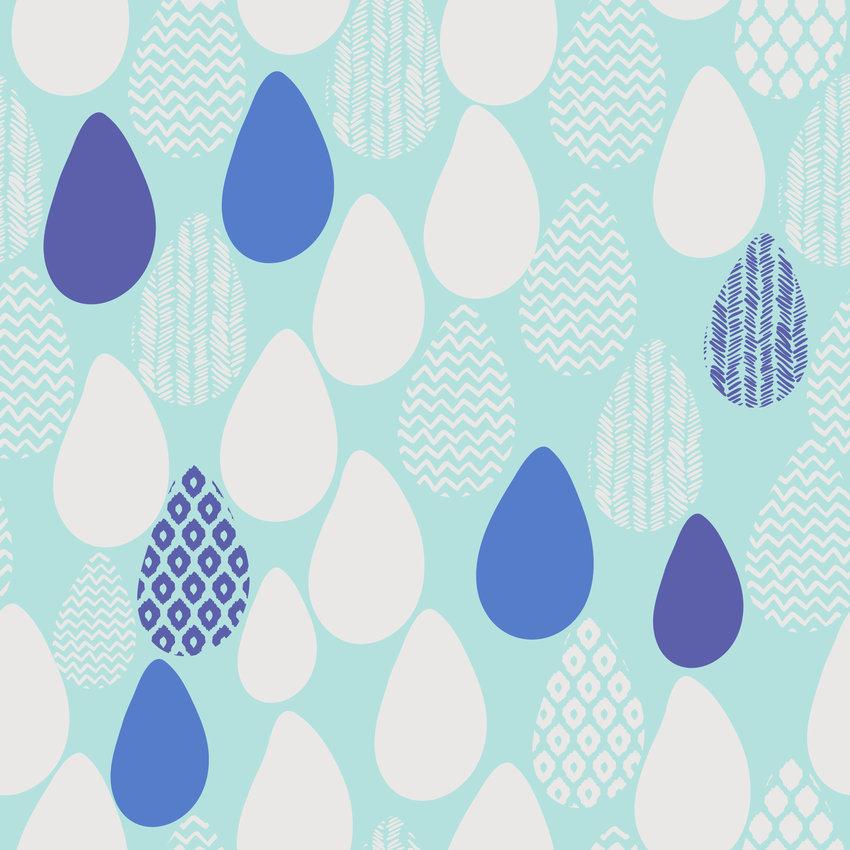 几何水滴型印花矢量图服装纺织面料数码印花花型素材-POP花型网
