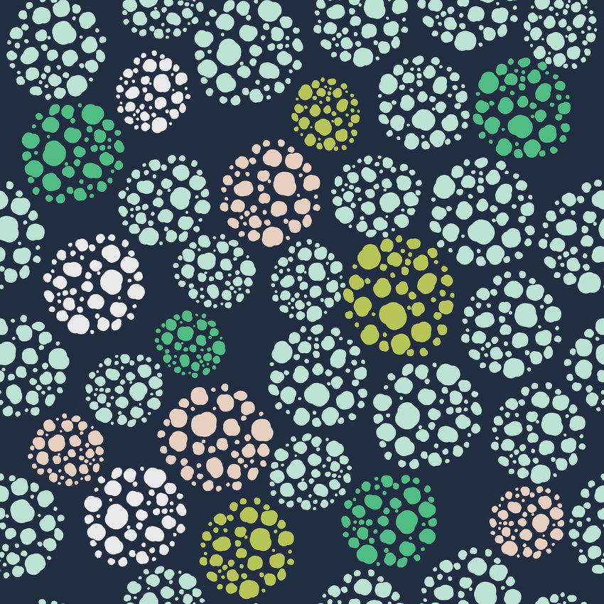 几何圆点拼接印花矢量图服装纺织面料数码印花花型素材-POP花型网