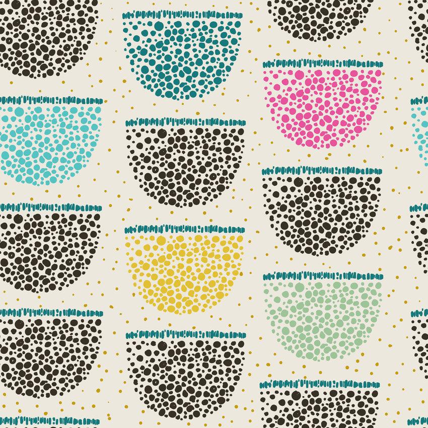 几何圆点拼接矢量图服装纺织面料数码印花花型素材-POP花型网