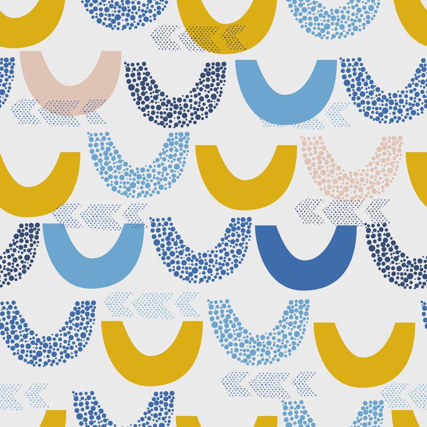 几何图案拼接鱼鳞形矢量图服装纺织面料数码印花花型素材-POP花型网