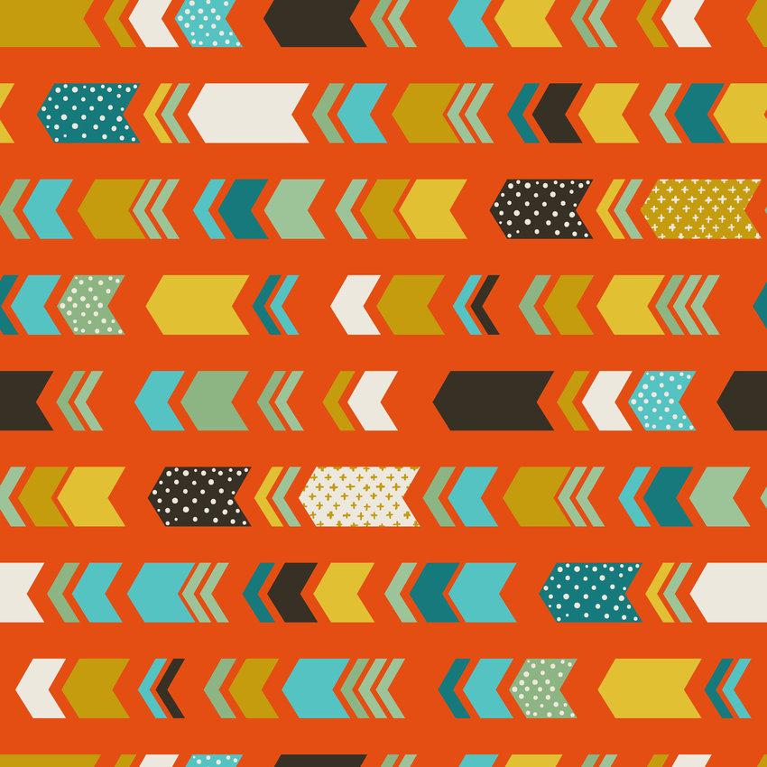 多彩几何图案印花矢量图服装纺织面料数码印花花型素材-POP花型网