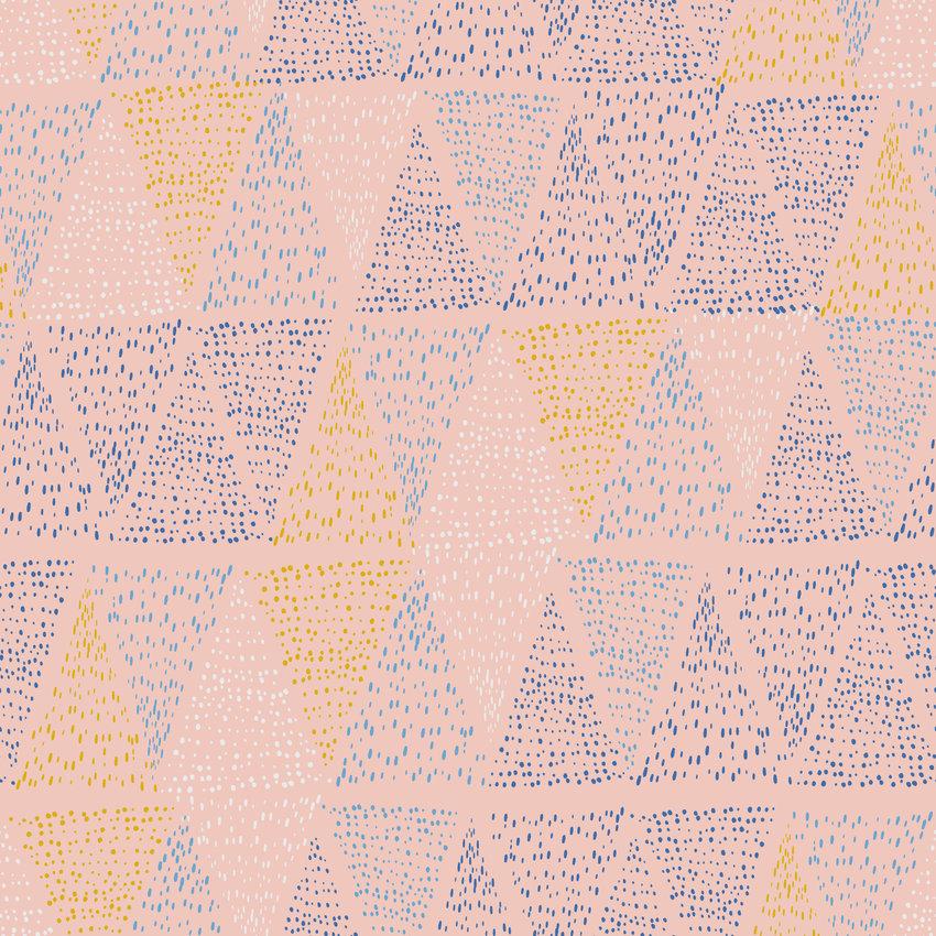 多彩几何图案三角形印花矢量图服装纺织面料数码印花花型素材-POP花型网