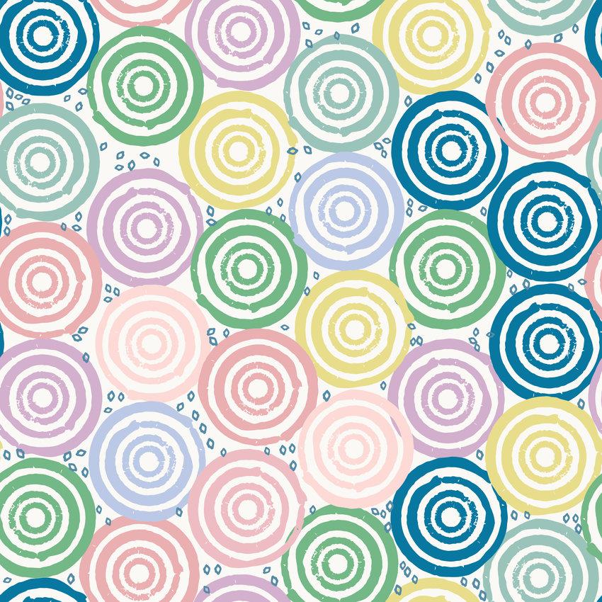 几何圆圈拼接矢量图服装纺织面料数码印花花型素材-POP花型网