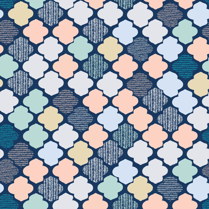 几何多彩菱形多边形印花矢量图服装纺织面料数码印花花型素材-POP花型网