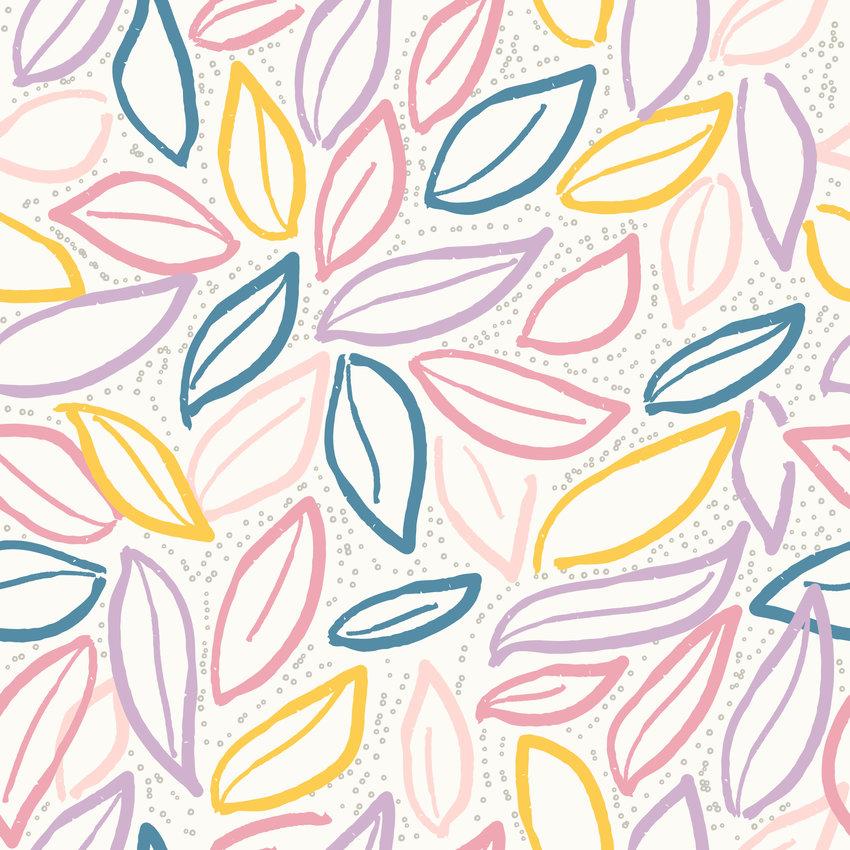 几何线条叶子印花矢量图服装纺织面料数码印花花型素材-POP花型网