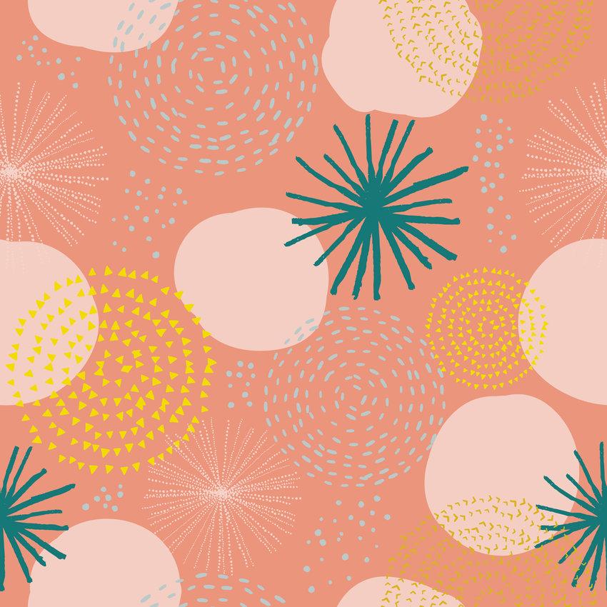 几何图案拼接矢量图服装纺织面料数码印花花型素材-POP花型网