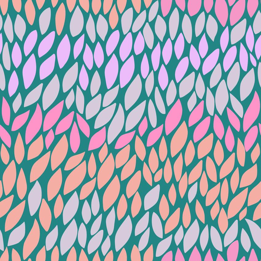 几何叶子印花矢量图服装纺织面料数码印花花型素材-POP花型网