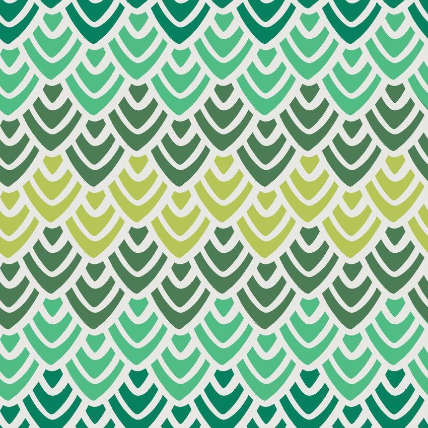 几何鱼鳞花纹印花矢量图服装纺织面料数码印花花型素材-POP花型网