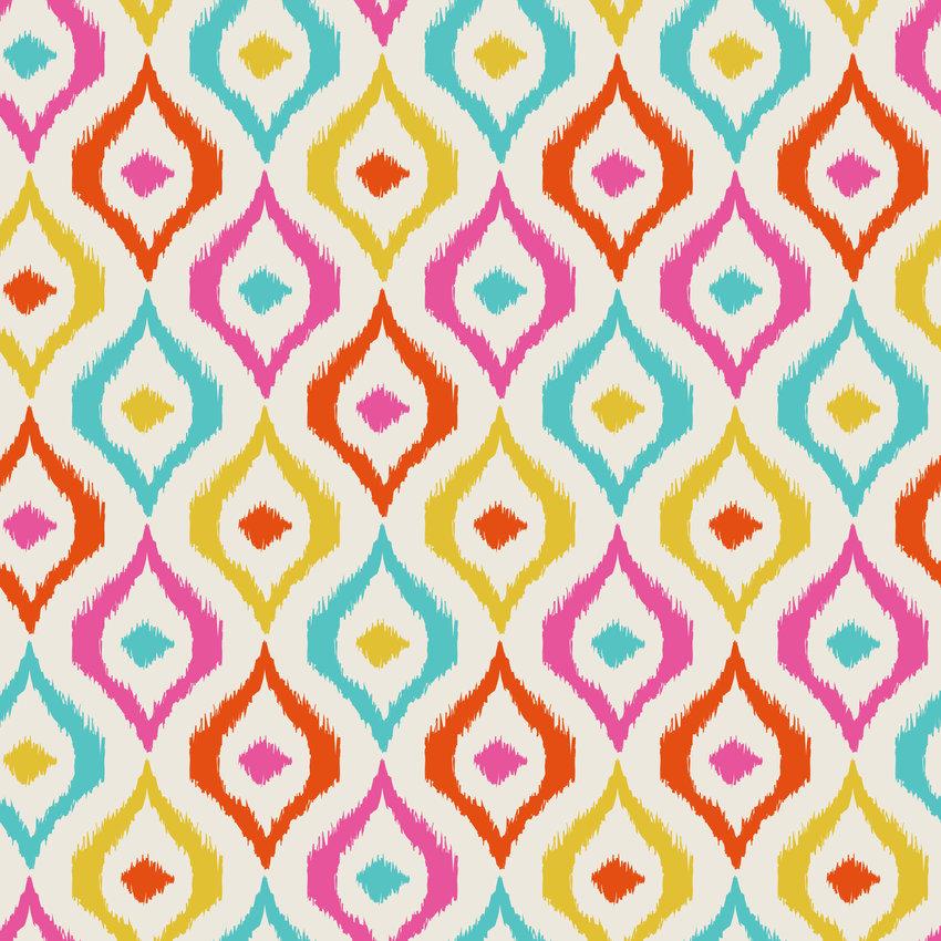 复古几何图案印花矢量图服装纺织面料数码印花花型素材-POP花型网
