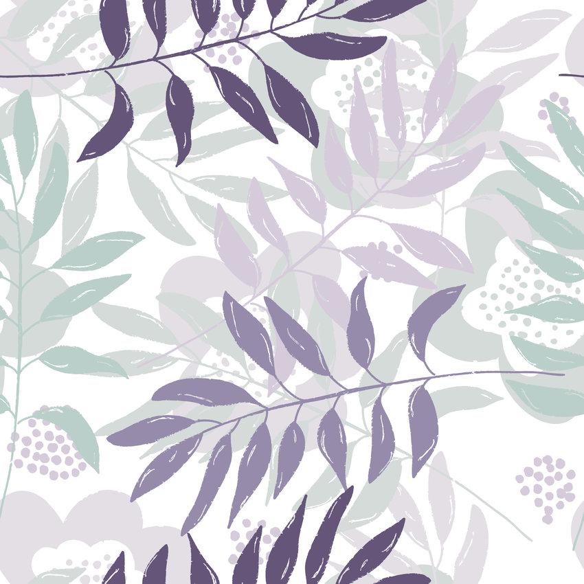 植物叶子印花矢量图服装纺织面料数码印花花型素材-POP花型网