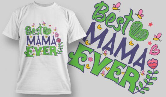 字母花朵印花矢量图服装裁片T恤烫图印花花型素材-POP花型网