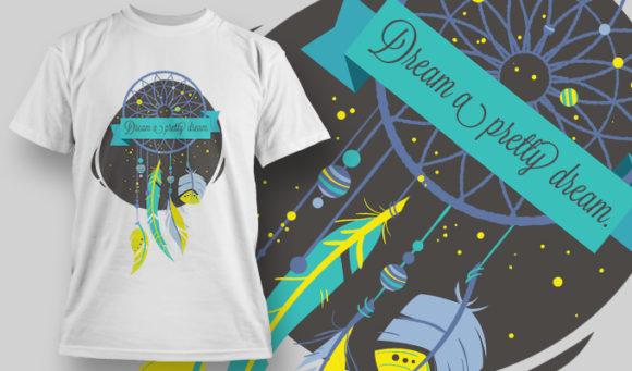 几何花纹羽毛印花矢量图服装裁片T恤烫图印花花型素材-POP花型网