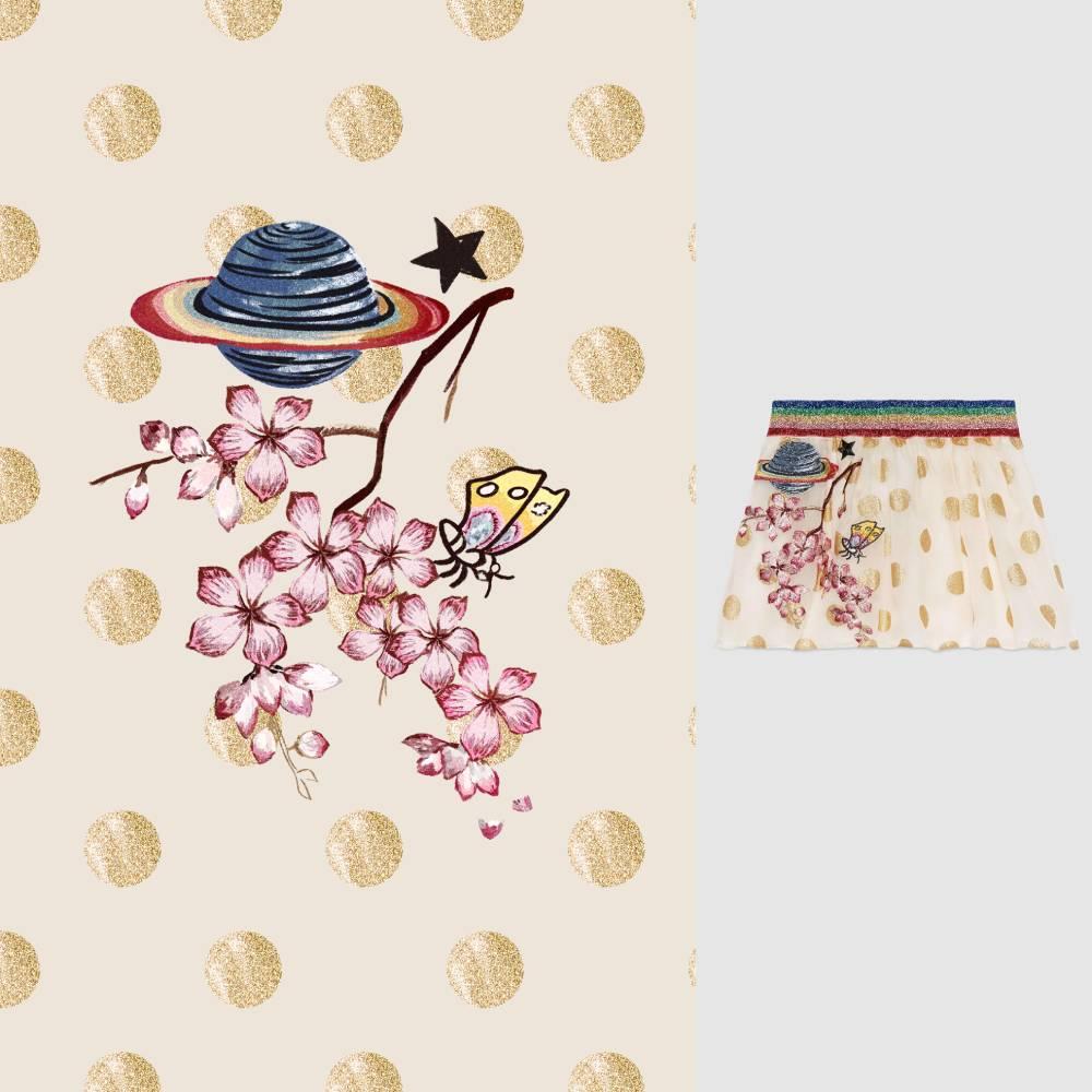 几何圆圈花朵星球印花矢量图服装纺织面料数码印花花型素材-POP花型网