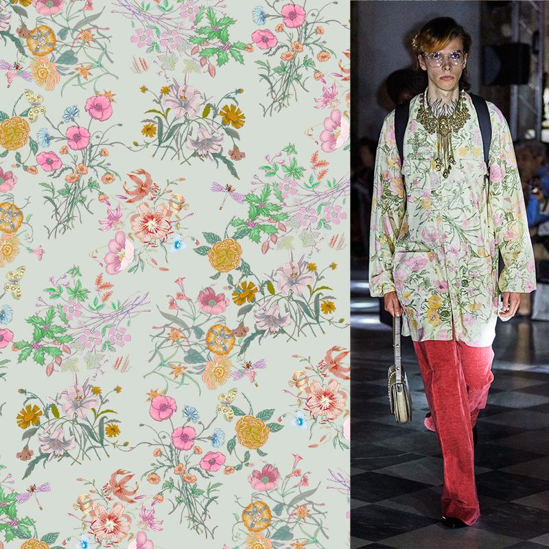 几何牡丹花印花矢量图服装纺织面料数码印花花型素材-POP花型网