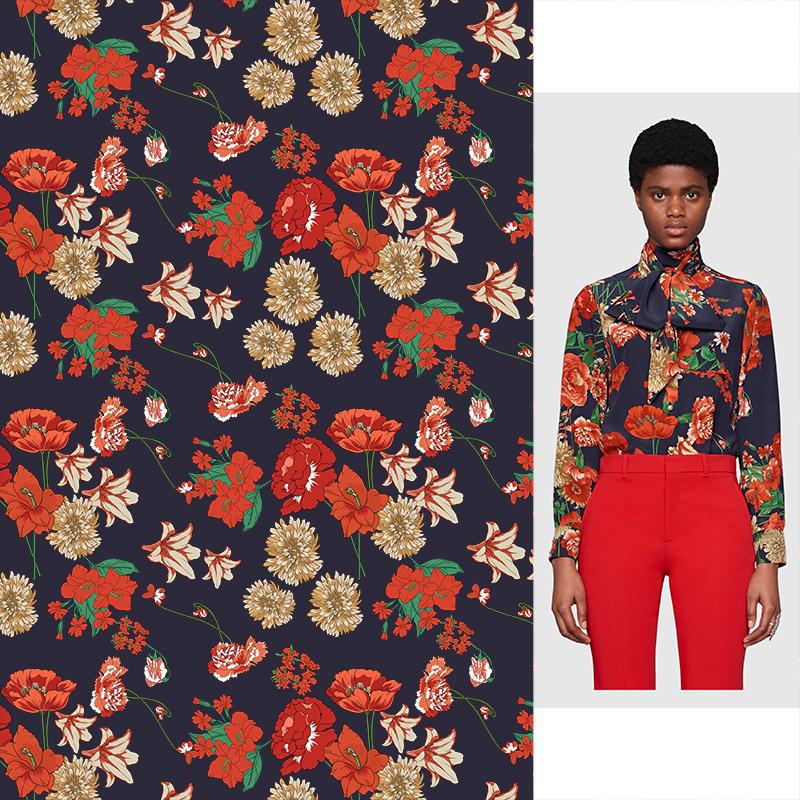 植物花卉印花矢量图服装纺织面料数码印花花型素材-POP花型网
