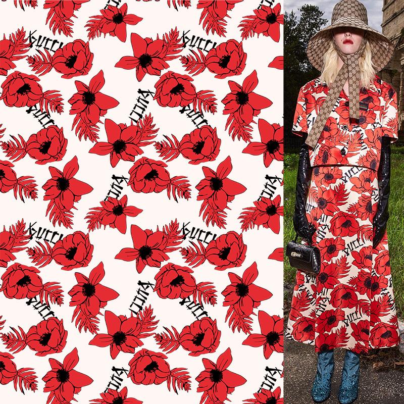 欧美风植物花卉印花矢量图服装纺织面料数码印花花型素材-POP花型网