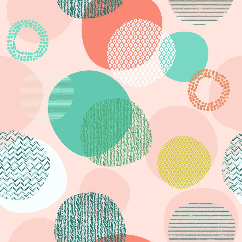 几何圆圈图案印花矢量图服装纺织面料数码印花花型素材-POP花型网