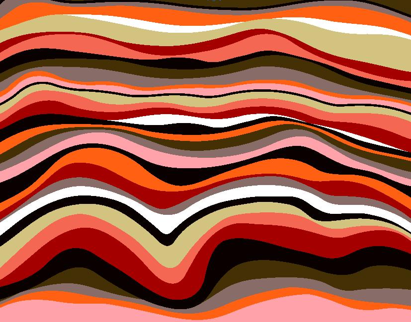 几何多彩波浪花纹印花矢量图服装纺织面料水印数码印花金昌花型素材-POP花型网