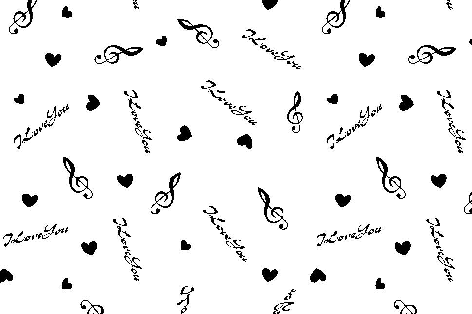 字母心形音符印花矢量图服装纺织面料水印数码印花金昌花型素材-POP花型网
