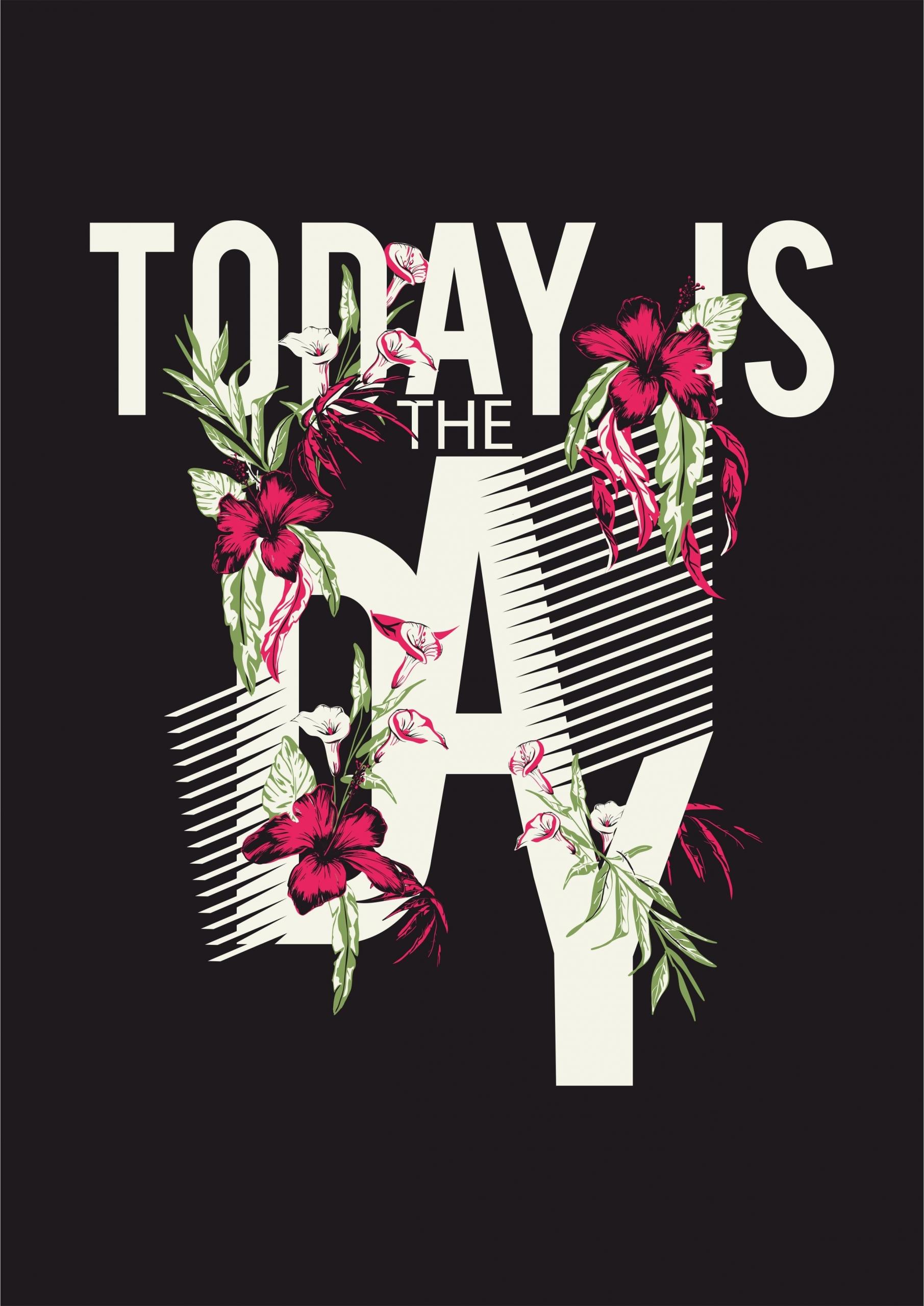 字母花朵几何线条拼接印花矢量图服装裁片T恤烫图印花花型素材-POP花型网
