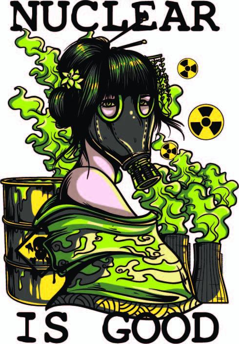 女士人物防毒面具字母印花矢量图服装裁片T恤烫图印花花型素材-POP花型网