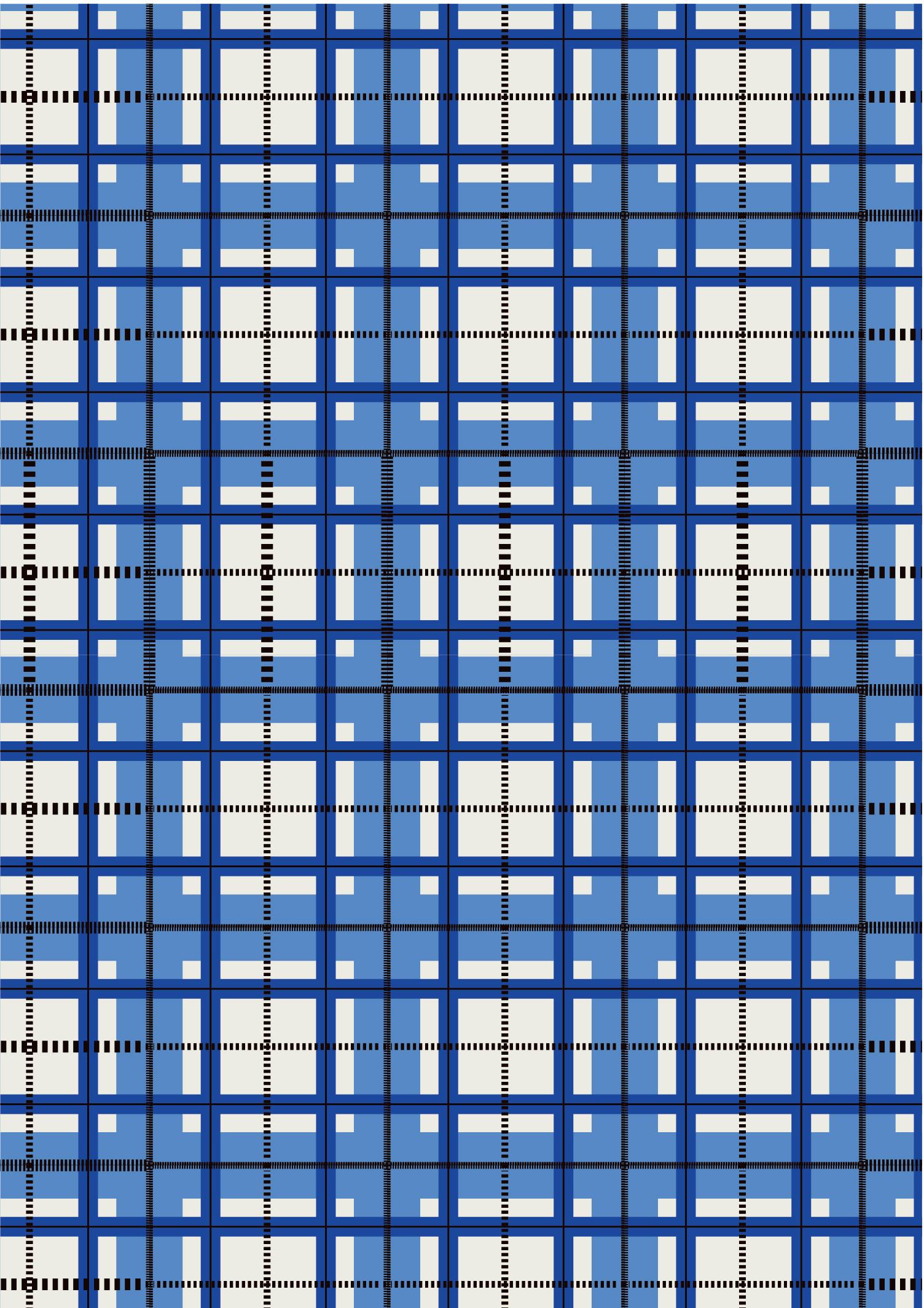 蓝色几何格子印花矢量图服装纺织面料数码印花花型素材-POP花型网