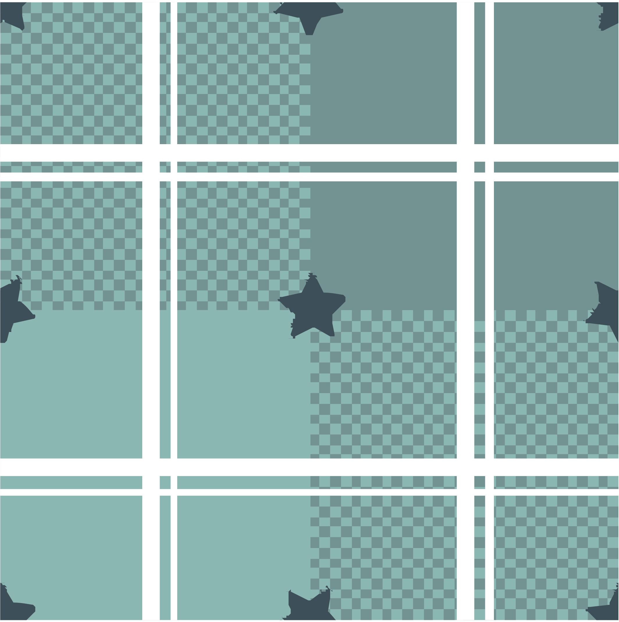 几何格子马赛克五角星拼接印花矢量图服装纺织面料数码印花花型素材-POP花型网