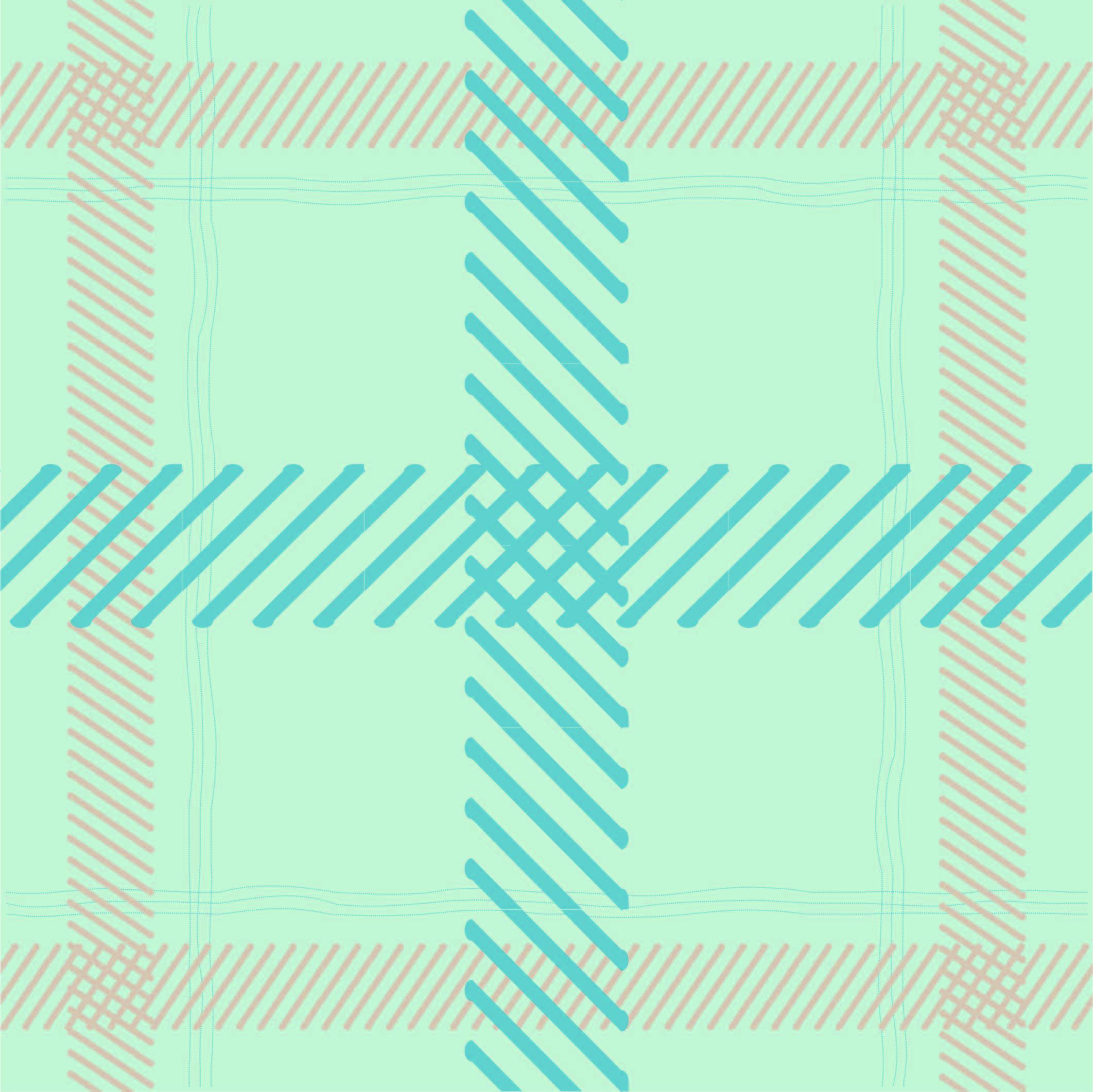 几何线条拼接格子印花矢量图服装纺织面料数码印花花型素材-POP花型网