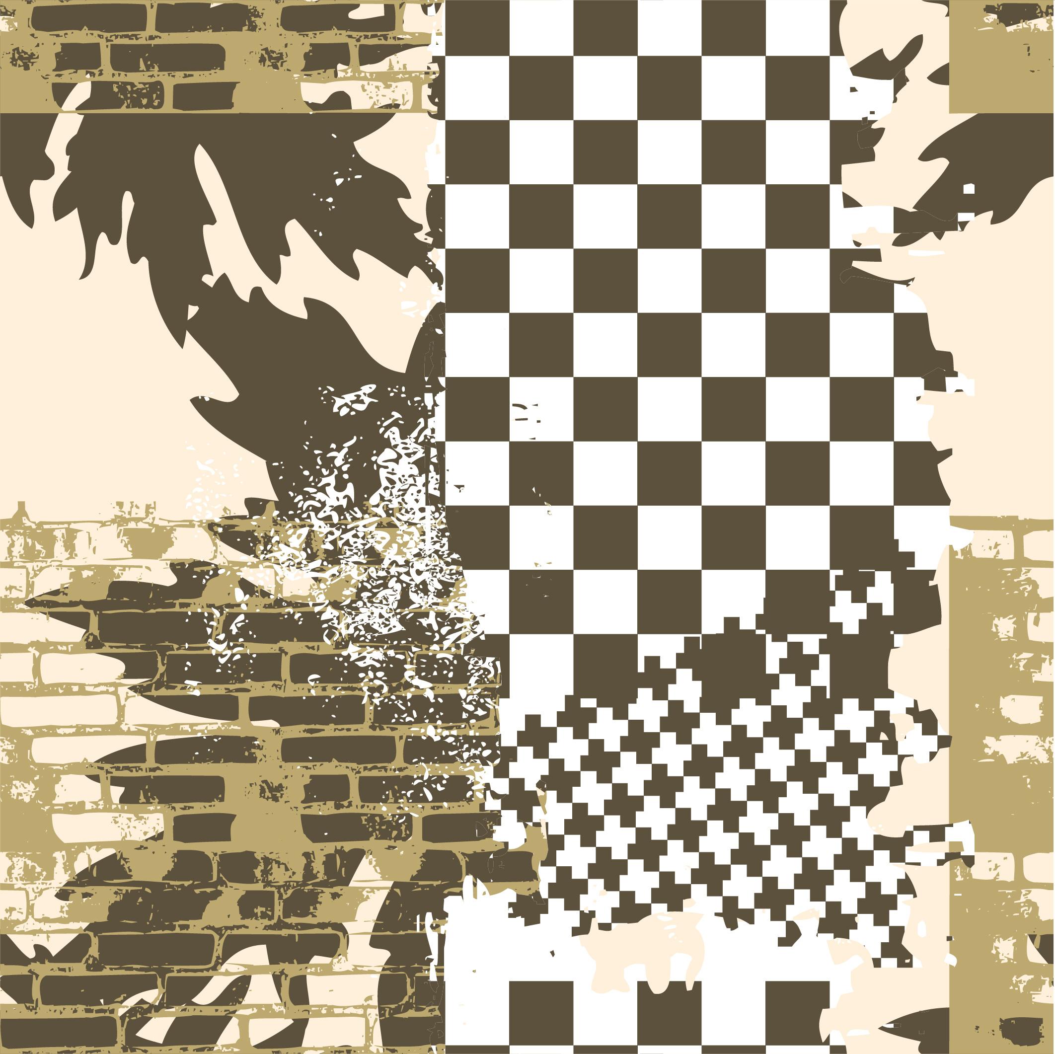 几何马赛克格子拼接印花矢量图服装裁片T恤烫图印花花型素材-POP花型网