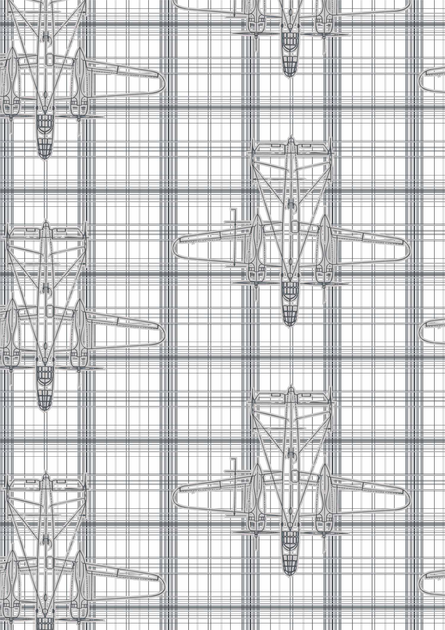 几何线条格子飞机拼接印花矢量图服装纺织面料数码印花花型素材-POP花型网
