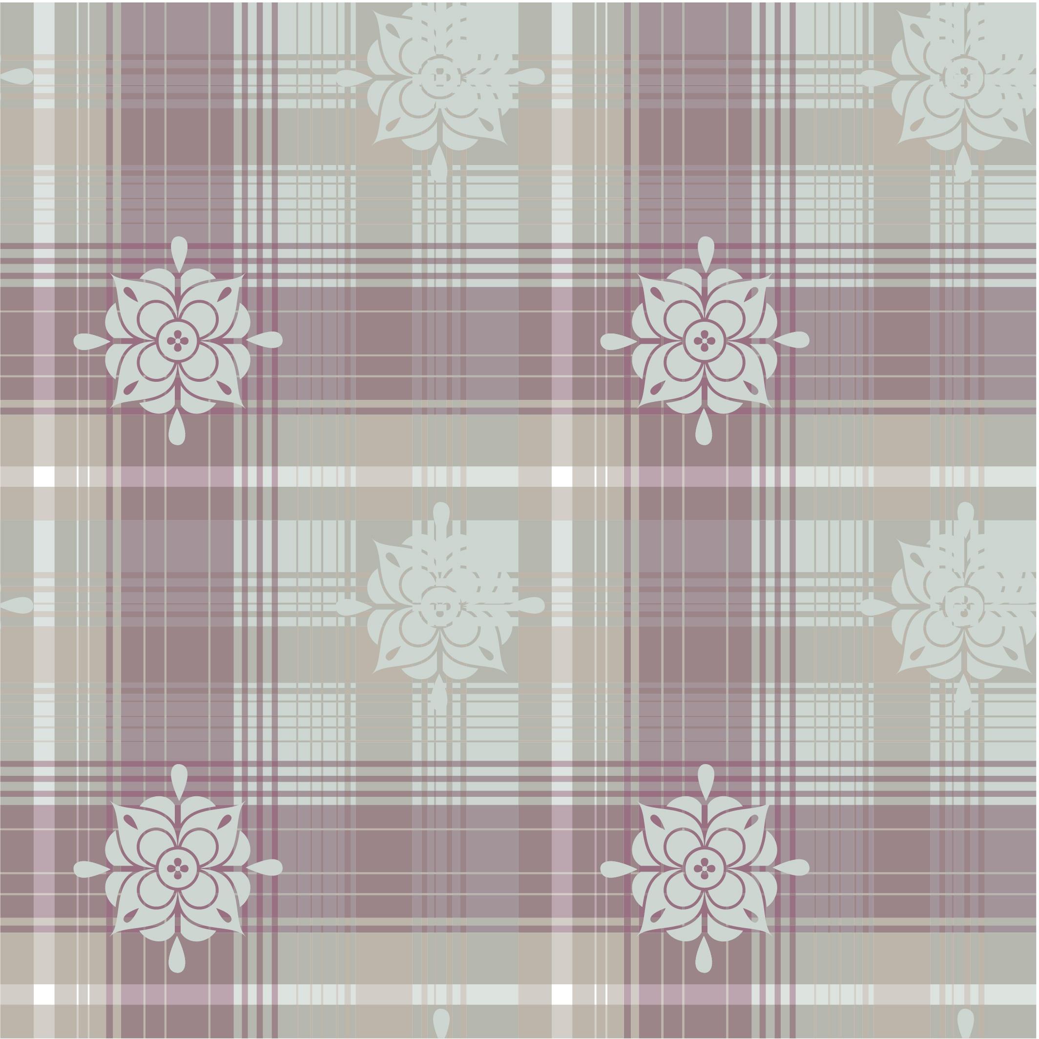 几何线条格子花朵印花矢量图服装纺织面料数码印花花型素材-POP花型网