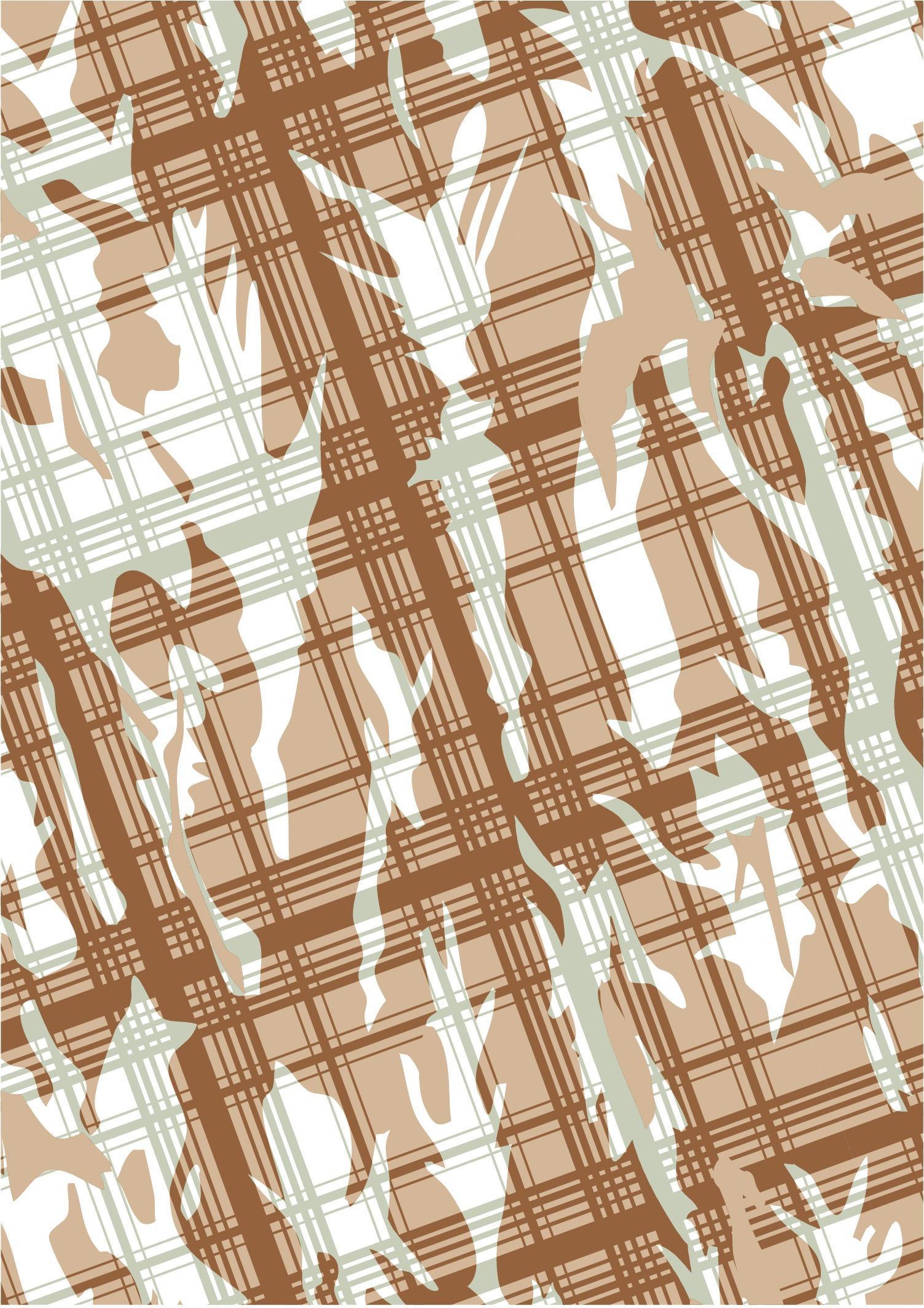 几何图案线条格子印花矢量图服装纺织面料数码印花花型素材-POP花型网