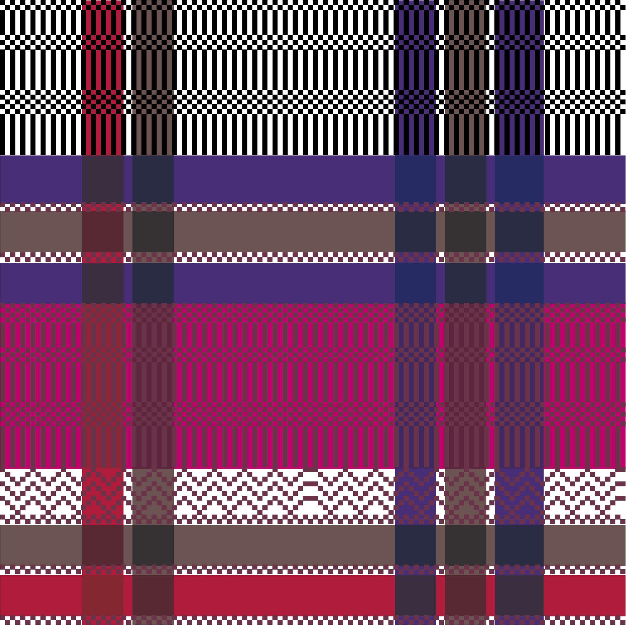 几何图案拼接格子印花矢量图服装纺织面料数码印花花型素材-POP花型网