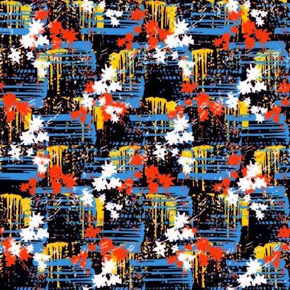 多彩几何涂鸦印花矢量图服装纺织面料数码印花花型素材-POP花型网