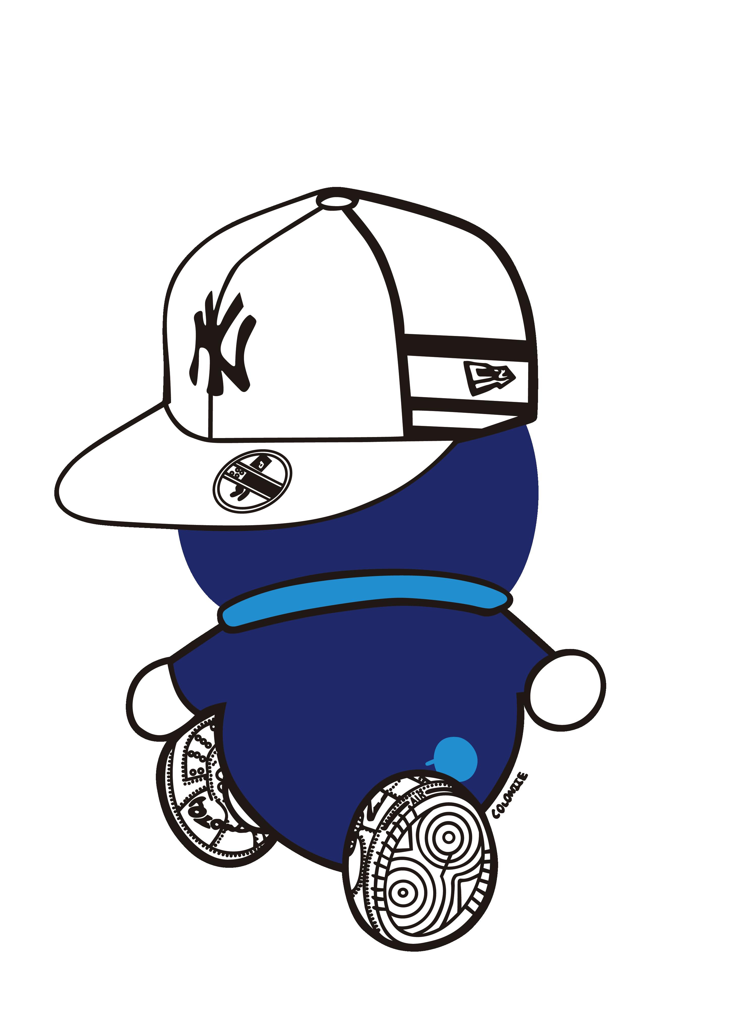 卡通动漫哆啦A梦潮牌印花矢量图服装裁片T恤烫图印花花型素材-POP花型网