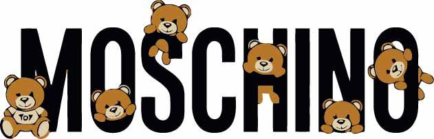 卡通潮牌字母MOSCHINO熊印花矢量图服装裁片T恤烫图印花花型素材-POP花型网