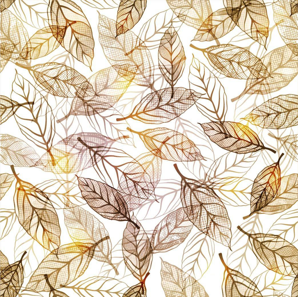 植物叶子拼接印花矢量图服装纺织面料数码印花花型素材-POP花型网