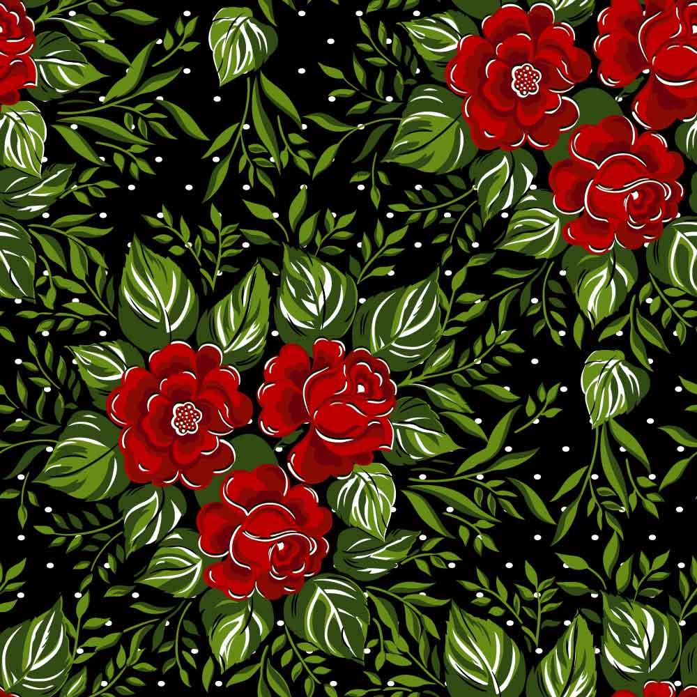 植物花朵小白点印花矢量图服装纺织面料数码印花花型素材-POP花型网