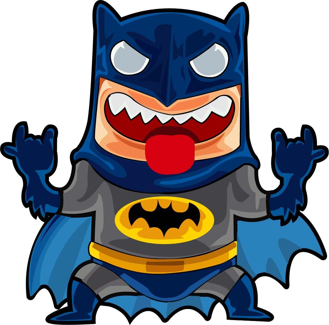卡通蝙蝠侠印花矢量图服装裁片T恤烫图印花花型素材-POP花型网