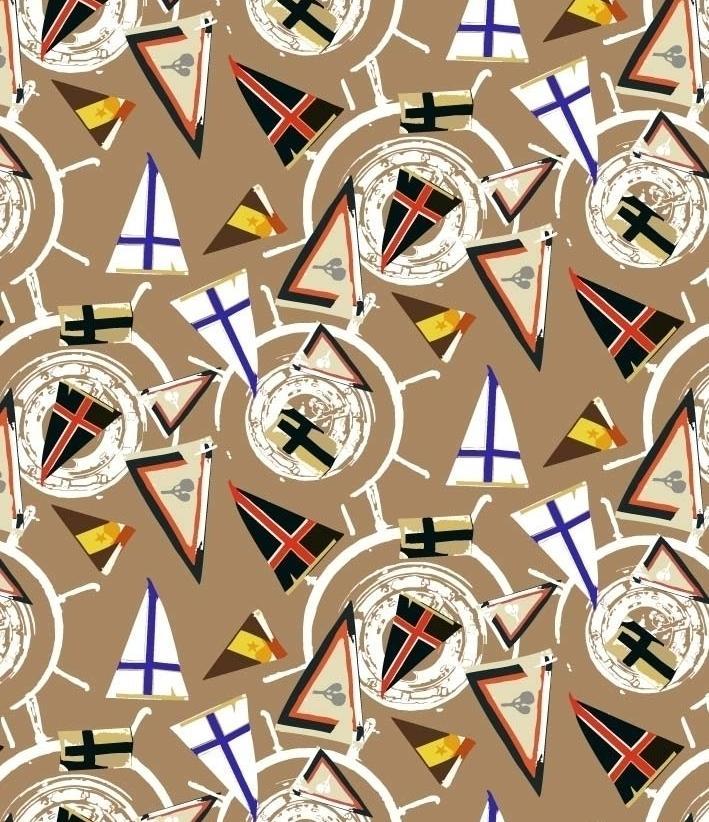 几何图案拼接印花矢量图服装纺织面料数码印花花型素材-POP花型网