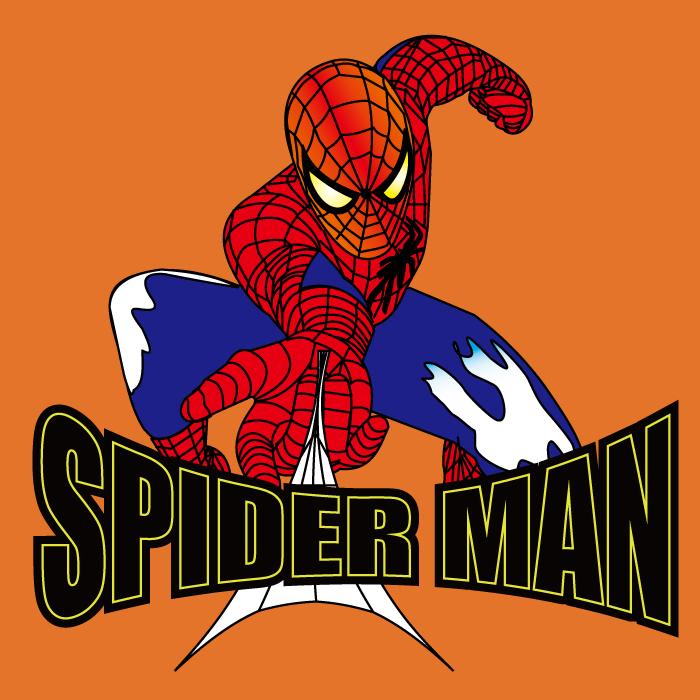 卡通动漫蜘蛛侠字母印花矢量图服装裁片T恤烫图印花花型素材-POP花型网