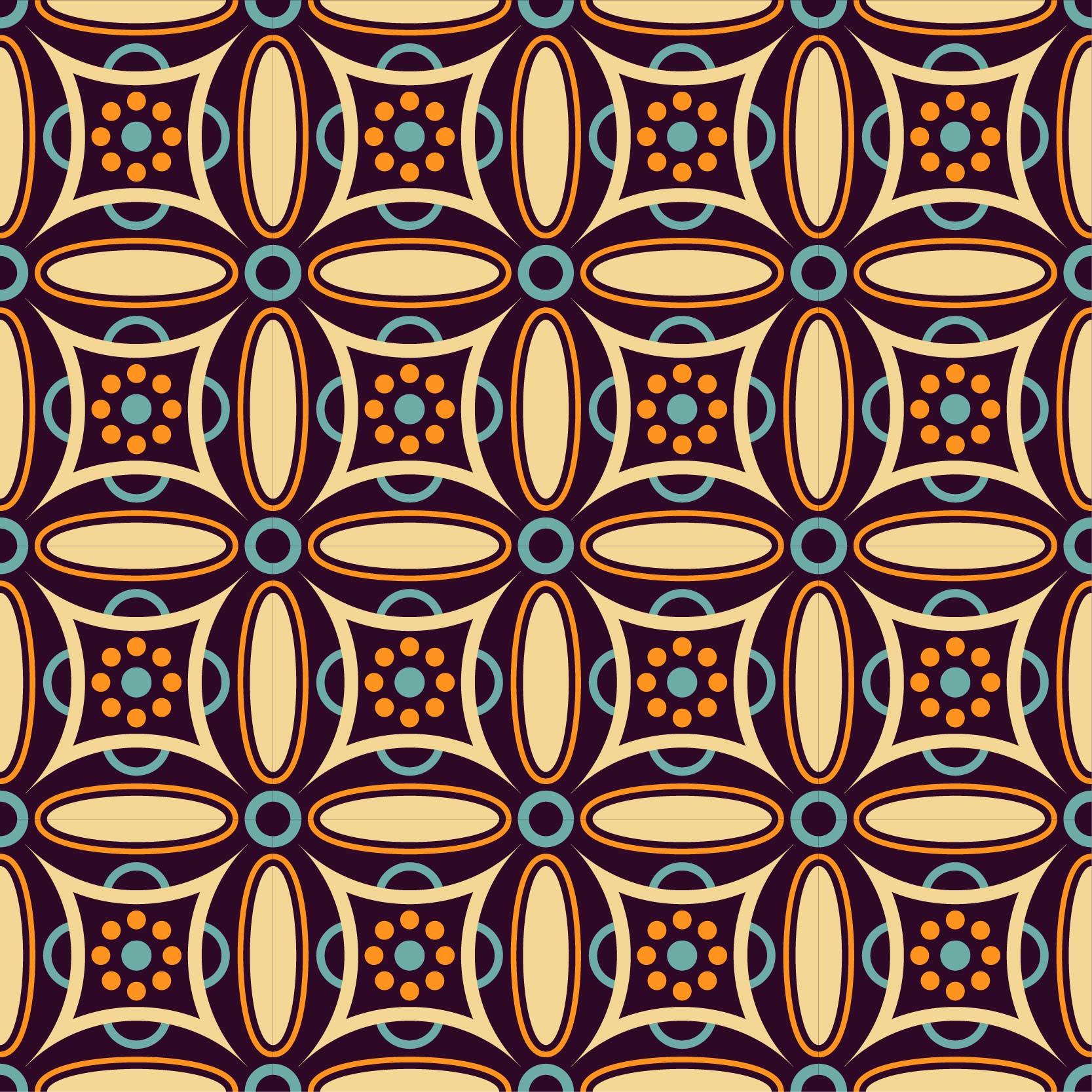 几何图案无缝拼接矢量图服装纺织面料数码印花花型素材-POP花型网